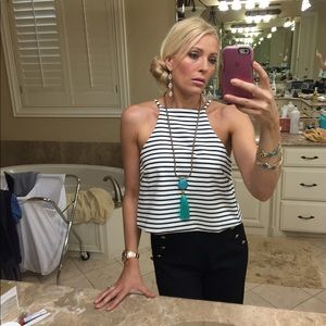 Striped tank crop top - size Med